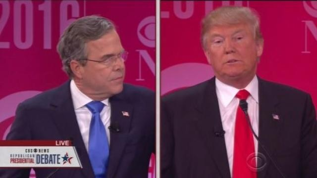 Jeb Bush responds to Trump's allegations about the lies of George W. Bush.