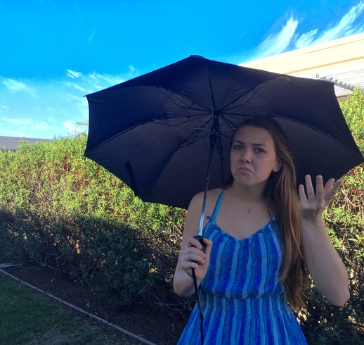 The bipolar weather in February has Sophomore Kiki Dvorakova puzzled about her outfit choices.
