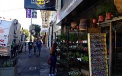 San Francisco citizens wander around on Haight street.