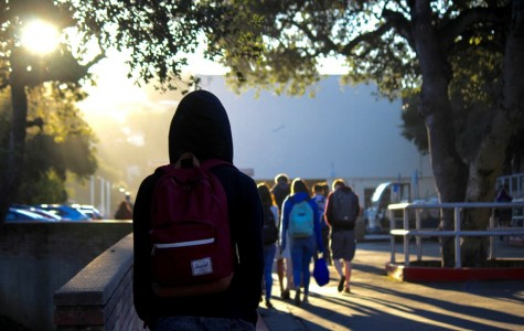 A student arrives to school at 7:45 to arrive to classes by 8:00 a.m.