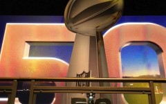 The Lombardi Trophy awaits an owner at the NFL Experience.