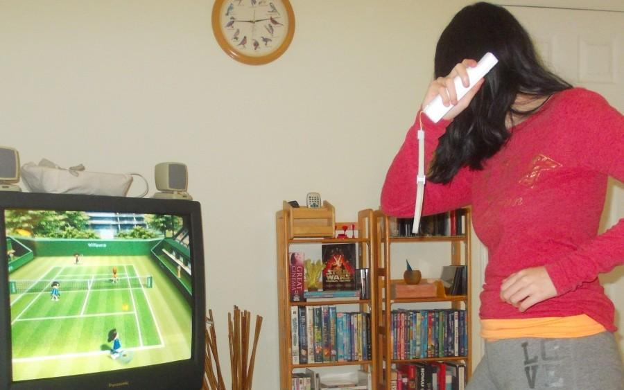 Many people use exercise games, such as Wii Sports, as a means of physical activity.