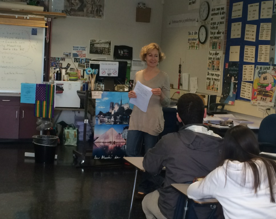 French teacher Katya Burton encourages her students to host incoming French exchange students.
