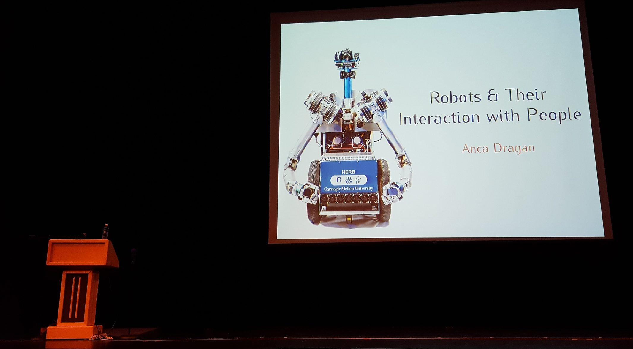 UC Berkeley Assistant Professor Anca Dragan spoke to the Carlmont community about the ideas and functions of robotics as well as discussing current and in-progress artificial intelligence designs.