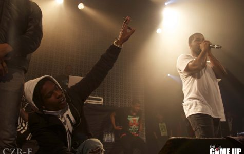 ASAP Ferg performs in front of yelling fans.