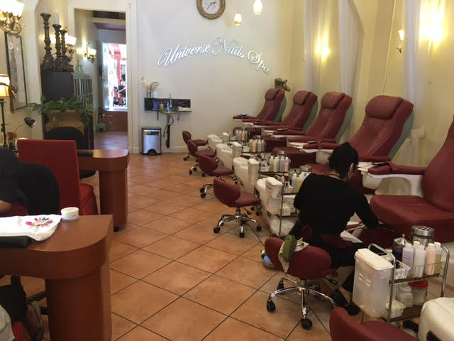 Universe Nails offers a relaxing environment for customers to unwind.