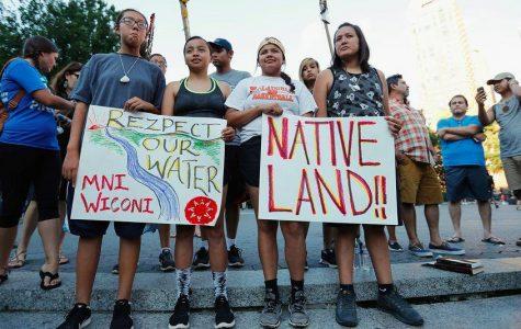 North Dakota Natives protest for their land