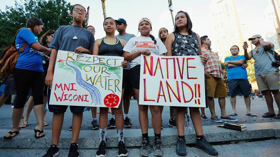 Native Americans from all over the country have been gathering in North Dakota to protest the construction of a oil pipeline that threatens both sacred lands and clean water.