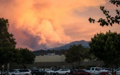 The Loma Fire burns in the Santa Cruz Mountains on Sept. 26.
