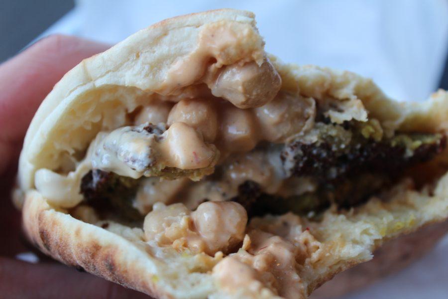 Fluffy and fresh Pita chock full of tasty falafels.