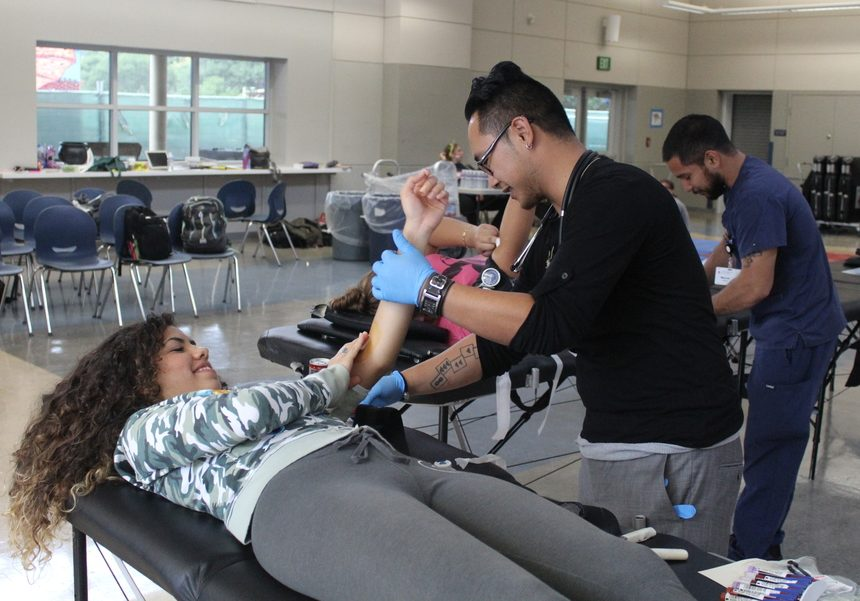 On Oct. 27, Sofia Perez, a junior at Carlmont, gave blood during the blood drive.