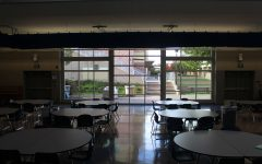 The addition of roll-up doors in the remodel of the Student Union allows for more natural light to enter the facility.