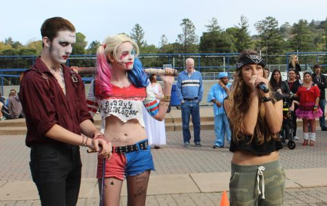 Sophomore Travis Mathers and junior Spencer Stancil, dressed up as the Joker and Harley Quinn of the Suicide Squad, put on their best impersonations in the final round.