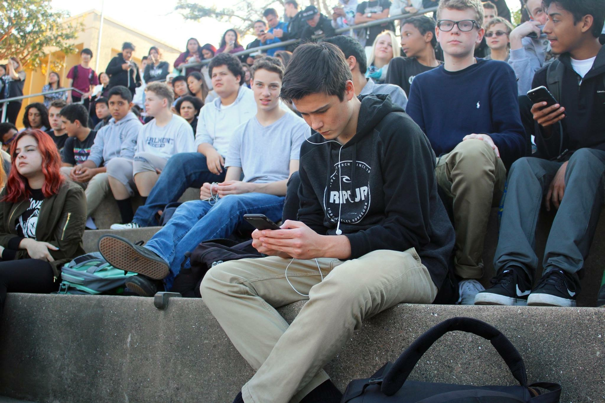 While some students participated in the protest,  others saw it as an easy way to get out of class because of the lenient attendance policy.