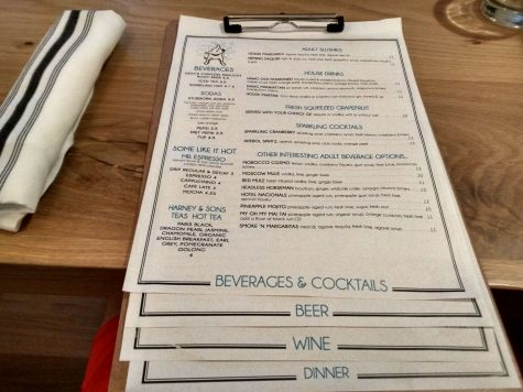 Just like the restaurant, the menu is mostly normal, with its own little twist.