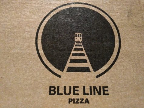 The train imagery of the logo reflects how the pizza takes you to a whole new world of flavor.