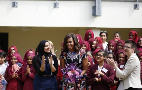 On June 16, 2015 Michelle Obama visited the Mulberry School for Girls in London to announce a nearly $200 million partnership between the United States and the United Kingdom that would help bring education to girls all around the world.