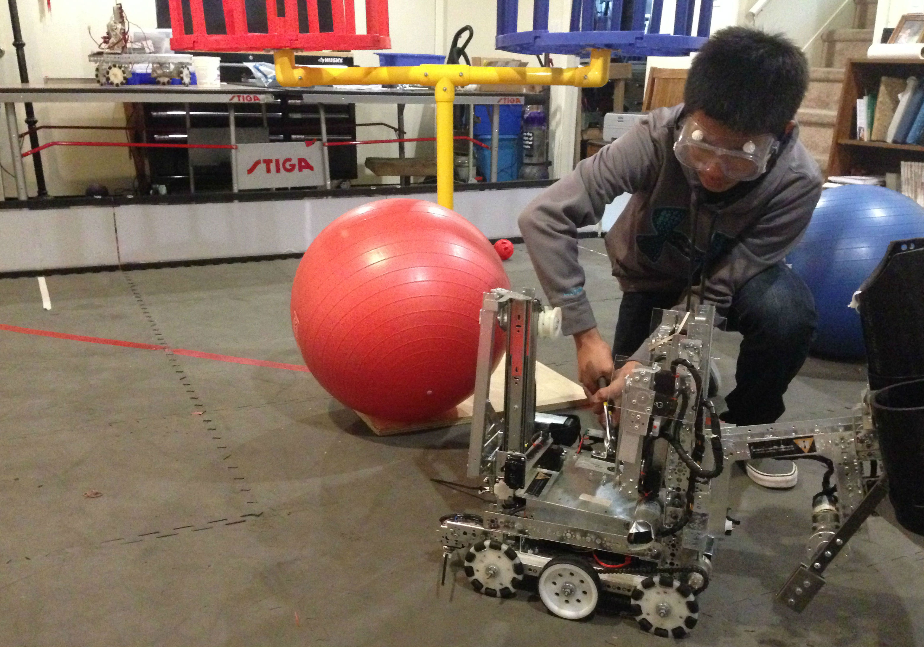 Fu has pushed the boundaries of his comfort zone by trying new activities like robotics.