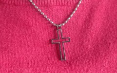 This friendship and faith cross belongs to Darby Bryan and her best friend who moved away. She had given the necklace to Bryan before she left and owns the inside of the cross as a symbol of friendship.