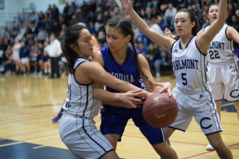 Girls basketball finishes strong against rival