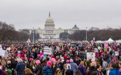 In the District of Columbia, women marched outside the Capitol Building to show support for each other in the wake of Donald Trump's inauguration.