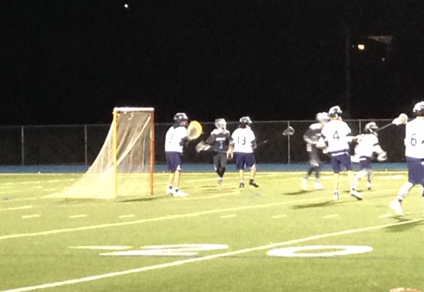 Carlmont prepares to defend a charging Dougherty offense.
