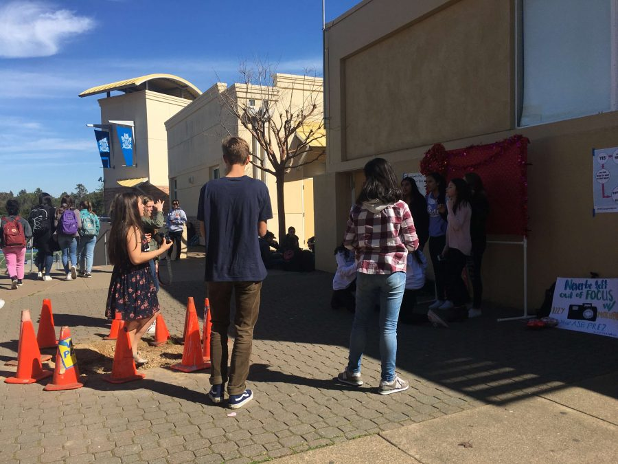ASB run photobooth featuring photograper and ASB member, Izzy Mitchell. Another fun activity on Valentine's Day for students.
