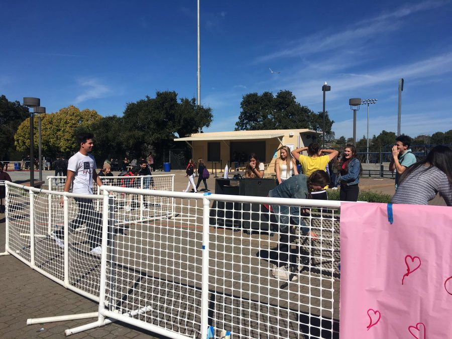 As ASB cleans up the Valentine's Day activities in the quad they blast music and dance around. Who knew cleaning could be so fun?