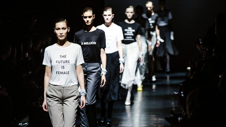 Designer Prabal Gurung used his final walk of his runway show on Feb. 12 as a platform to divulge his stance on current political and social issues.