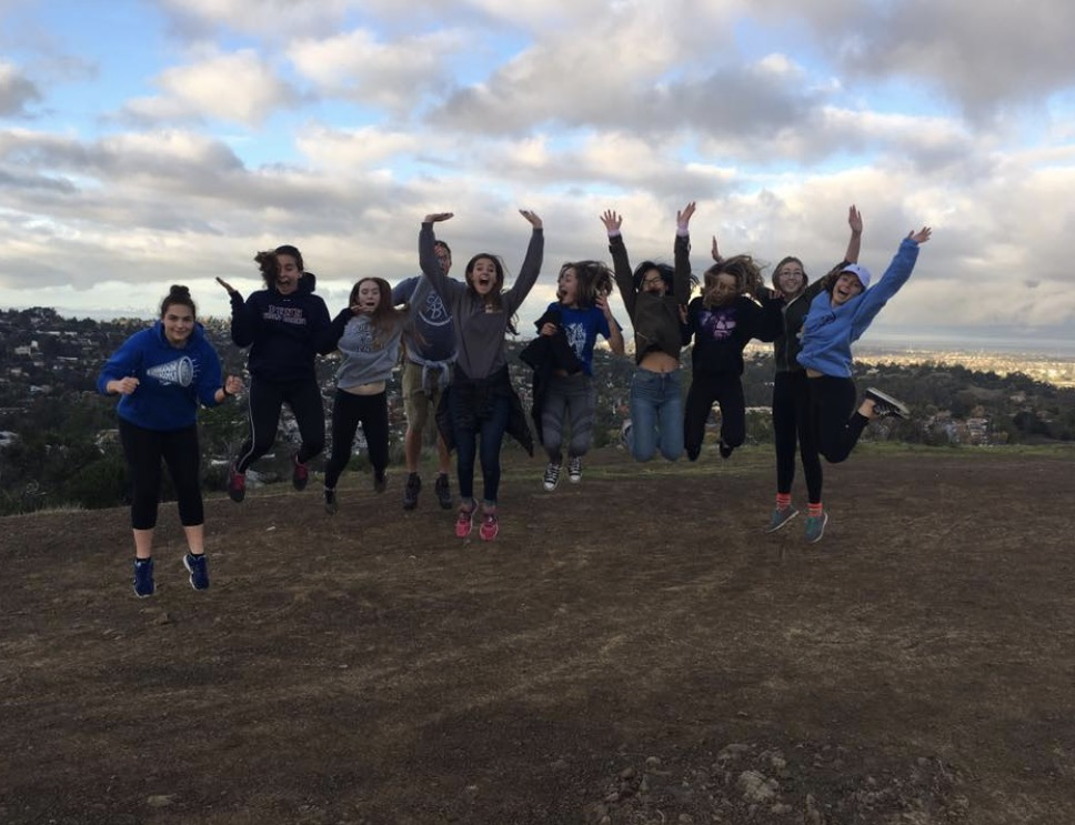 A group of leadership students hiked up to the hills above Carlmont for IMPACT Club's first meeting.