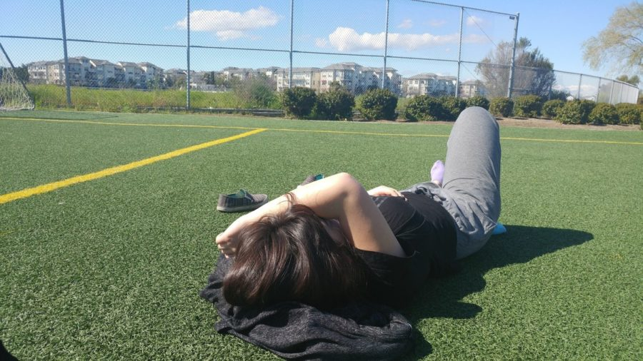 Laying in the plastic field of my elementary school, I realized that we shouldn't have to feel guilty for enjoying life.