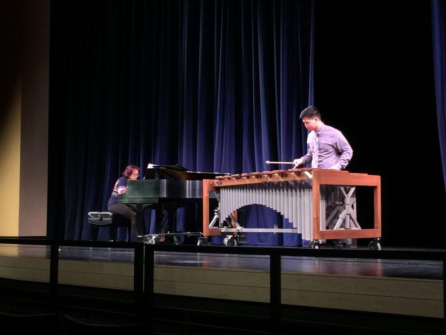 Kyle Jung, a senior, played Marimba Concerto No.1 Mvt.4 by Ney Rosaulo