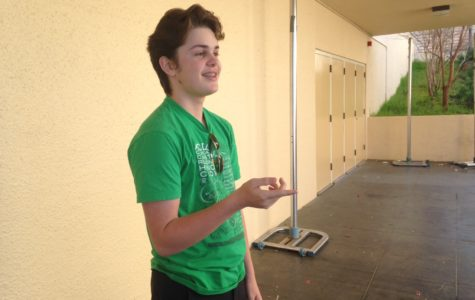 Sophomore Patrick Martin demonstrates how he prepared for his audition.