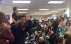 Carlmont students attend the ASB Commissioner meeting during lunch in the ASB room on Feb. 27.