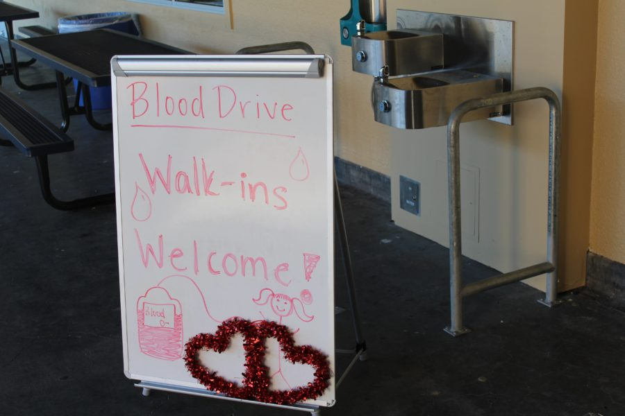 The blood drive offers appointments for walk-in students as well for those who made the last minute decision to donate.