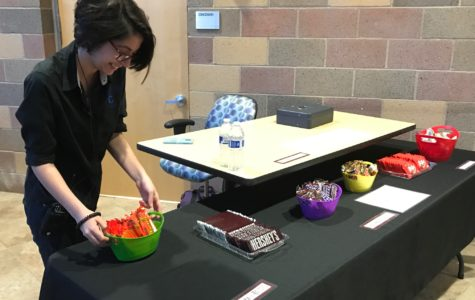 Sophomore Noa Carreras puts out snacks for sale that will fund new equipment for CTTA.