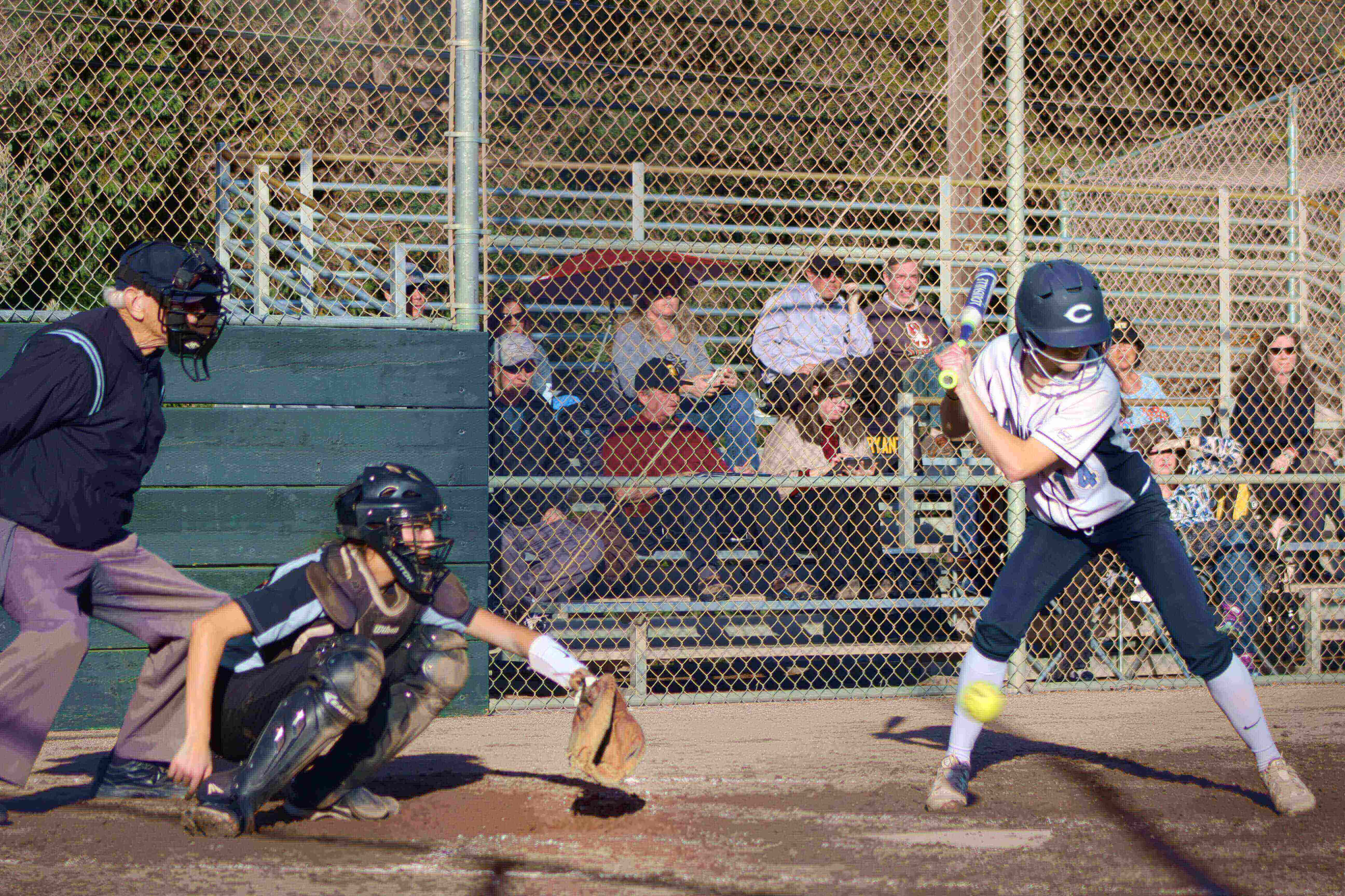Carlmont junior Haley Masters steps up to the plate during the Scots's big win.