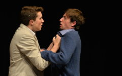 Miles Ramsdell-Ray, a junior, and Raffi DeSoto, a senior, enact the absurdist one act