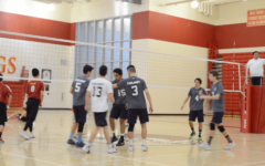Boys Varsity Volleyball defeats Mills in three straight sets