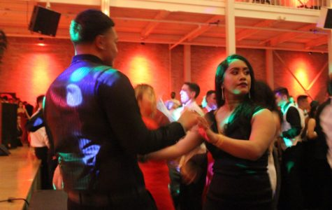 Seniors at the 2016 prom celebrate one of their final events as Carlmont students.