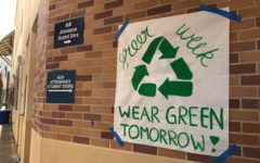 Students participating in the planning and execution of Green Week, which took place from April 24-April 26, hung posters around Carlmont, encouraging students to