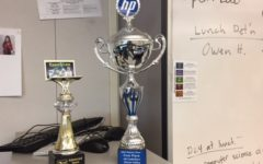 Carlmont's Computer Science Club often places very high at coding competitions. Trophies on display in the Computer Science Lab from last year's competitions show the students' successes.