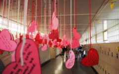 Every year on Valentine's day, Recognition hangs heart-shaped valentines in C-hall for every student at Carlmont to ensure that everyone feels included.
