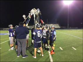 The boys lacrosse team practice for an upcoming matchup with the Burlingame Panthers on April 27.