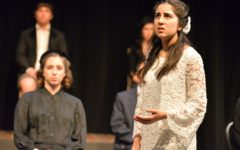 """Salma Sebt, a junior, played Emily in the Spring Play, """"Our Town,"""" by Thornton Wilder. She said, """"The viewpoints that people have on life are different and there's certain parts of life that we can't go back on because, well, the past has happened and life just goes on."""