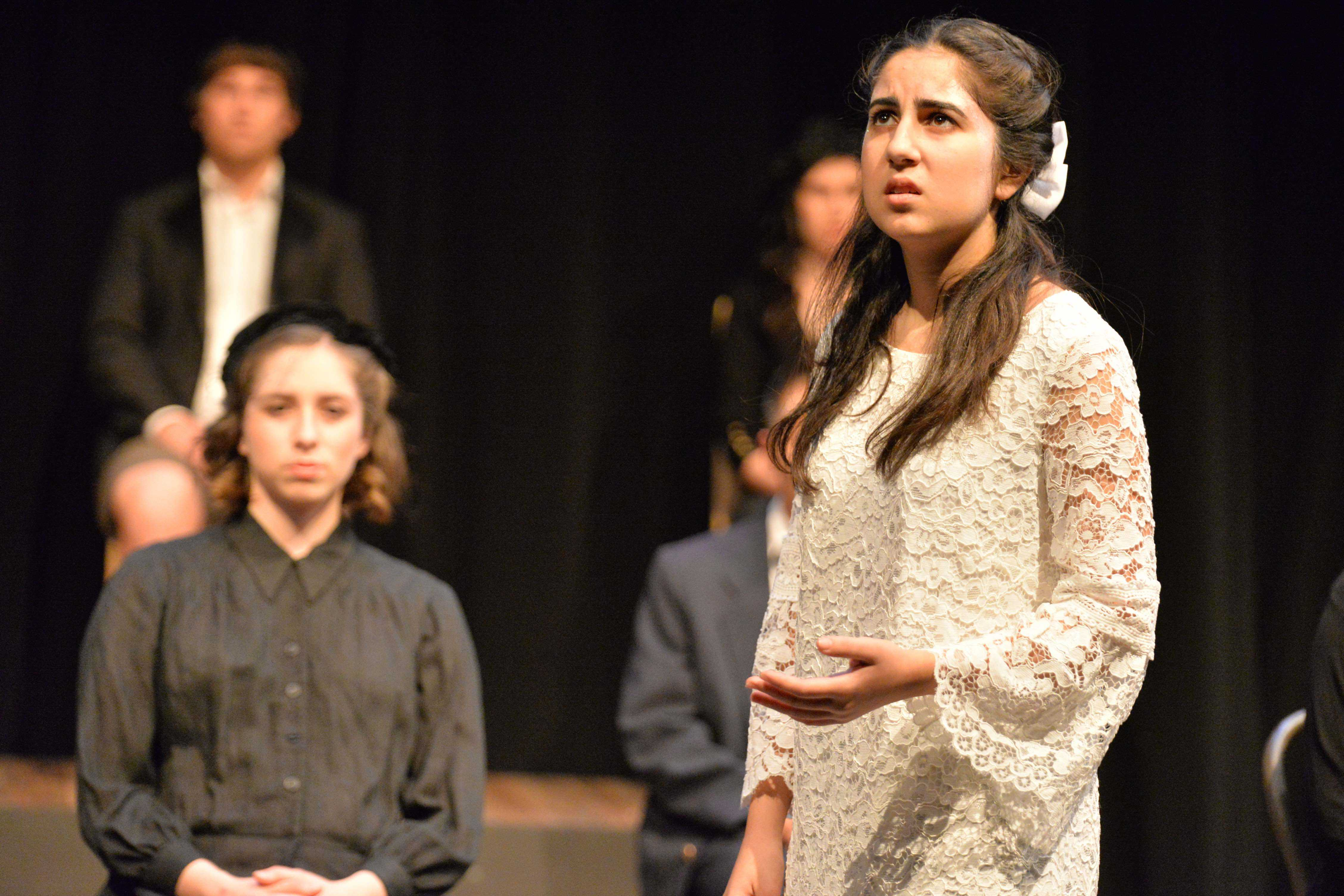 "Salma Sebt, a junior, played Emily in the Spring Play, ""Our Town,"" by Thornton Wilder. She said, ""The viewpoints that people have on life are different and there's certain parts of life that we can't go back on because, well, the past has happened and life just goes on."