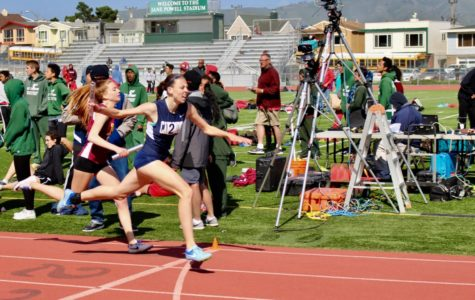Carlmont sprints past other school teams in order to win the race.