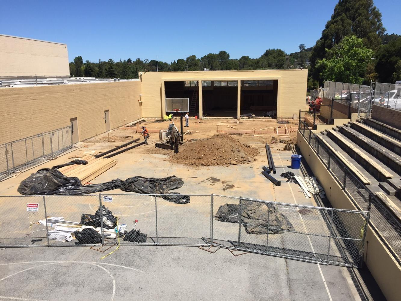 The weight room is being torn down in order to prepare it for the new additions.