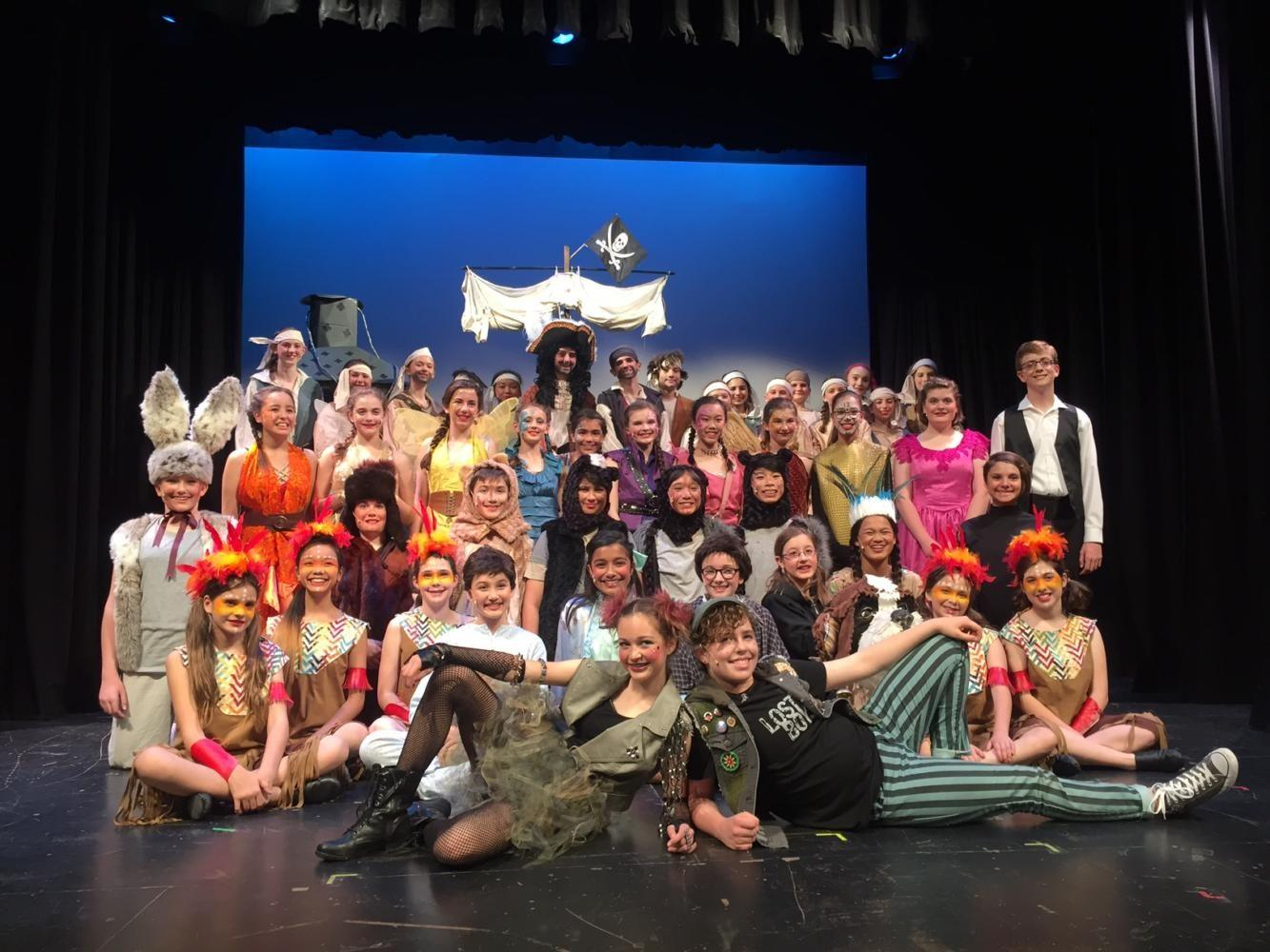 The+cast+of+%22Peter+Pan+Jr.%22+featured+many+young+actors+from+Ralston+Middle+School.