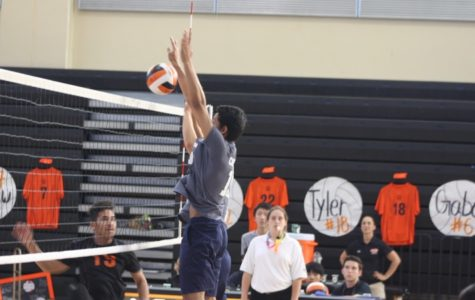 Haider blocks the ball against the Bearcats.